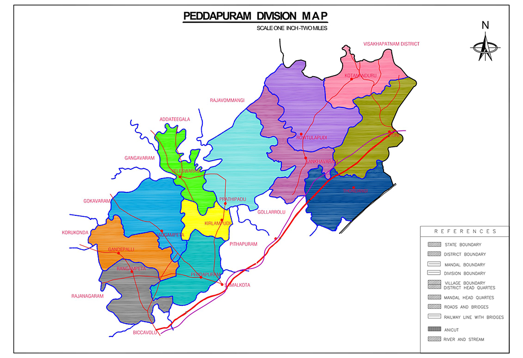 Peddapuram Division Map