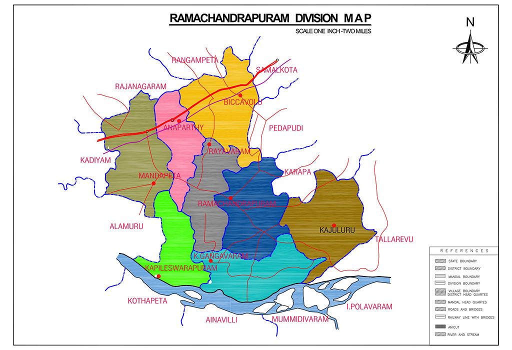 Ramachandrapuram Division Map