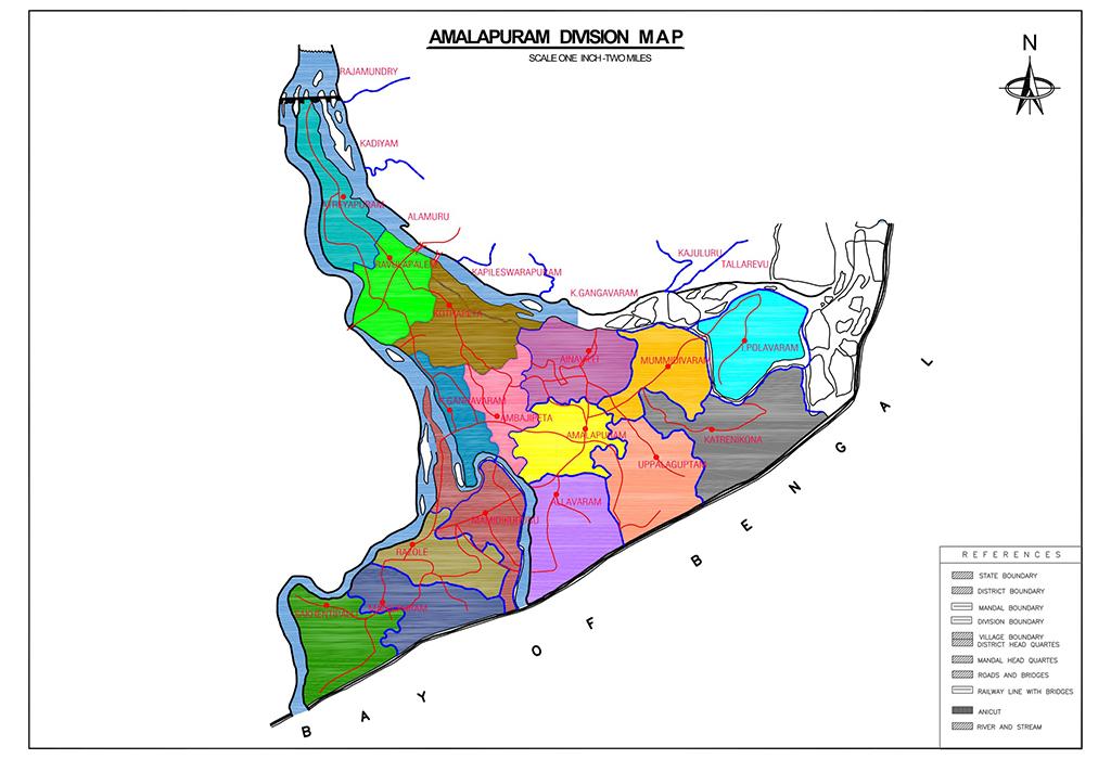 Amplapuram Division Map