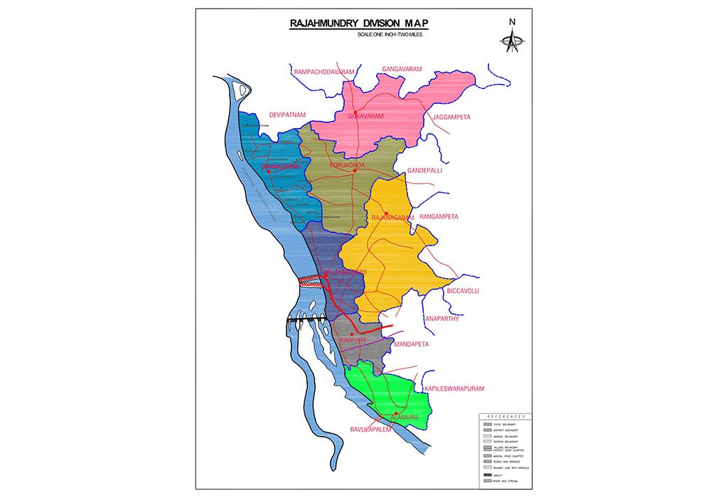 Rajahmundry Division Map
