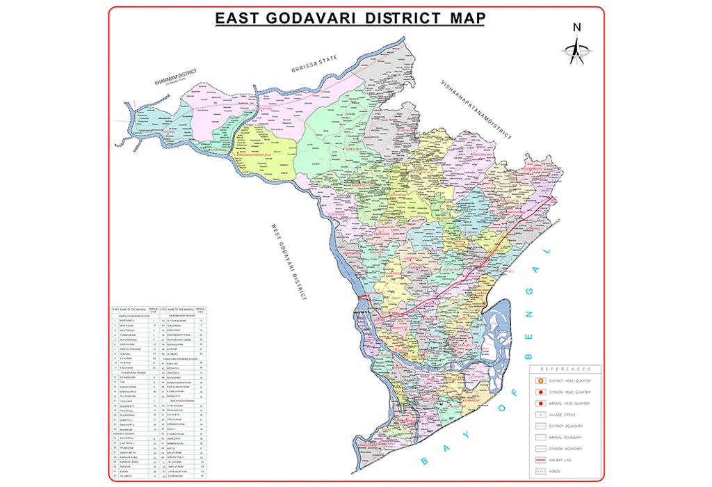 East Godavari District Map