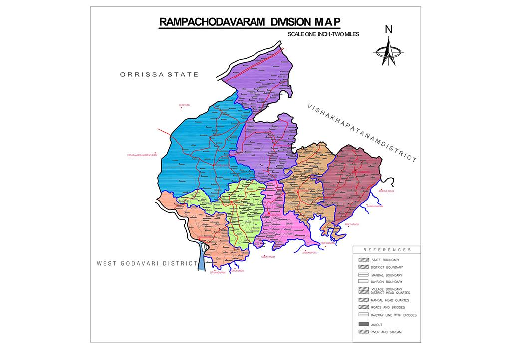Rampachodavaram Division Map