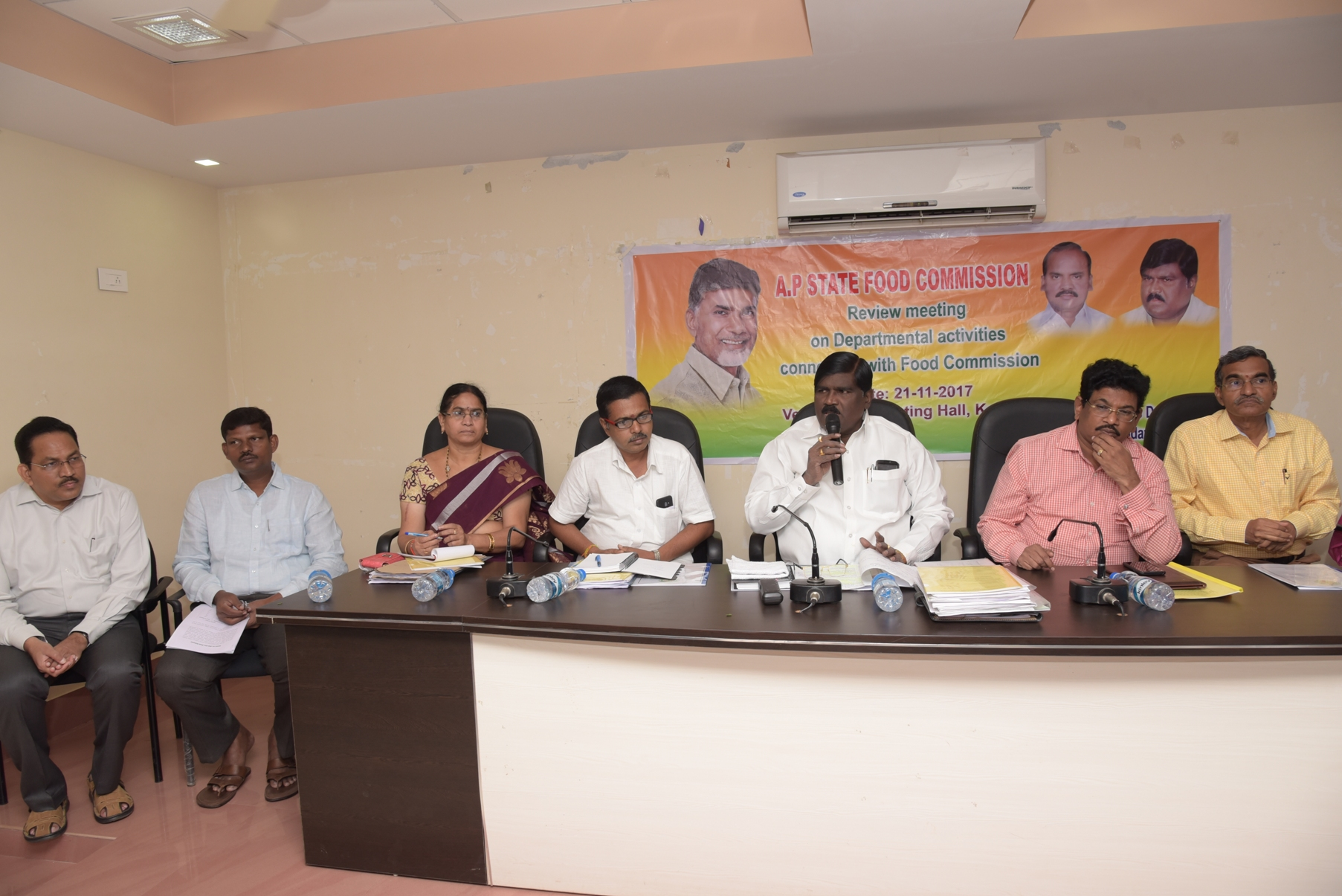 AP State Food Food committee chairman review meeting at R&B Guest House